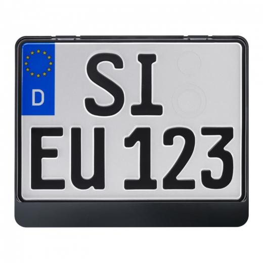 Kennzeichenhalter ERUT Twinline classic Schwarz 280 x 200