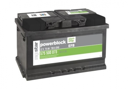 Starterbatterie Powerblock Ultra EFB  12 Volt 75 AH
