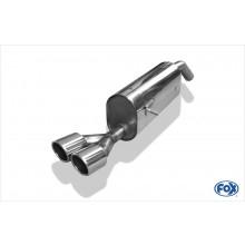 Peugeot 207 RC Endschalldämpfer einseitig