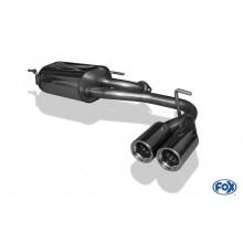 Subaru Justy II für Modelle mit lackierter Stoßstange Endschalldämpfer quer