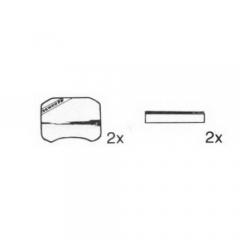 Abdeckkappe mit Achse für Längenverstellung