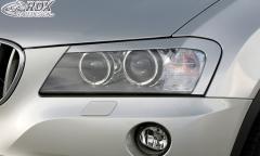 Scheinwerferblenden BMW X3 F25 2010-2014 Böser Blick
