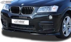 Frontspoiler VARIO-X BMW X3 F25 M-Technik -2014 Frontlippe Front Ansatz Vorne Spoilerlippe
