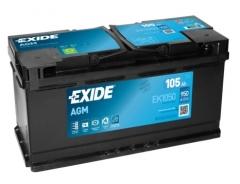 Starterbatterie Exide Technologies 105 AH 950A 12V