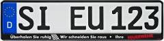 Kennzeichenhalter ERUSTAR Feuerwehr